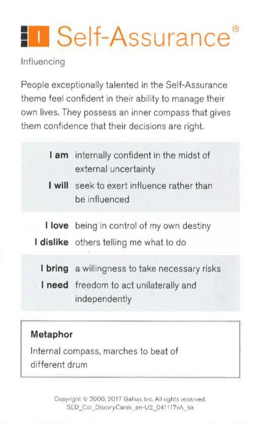 Self-Assurance Strength